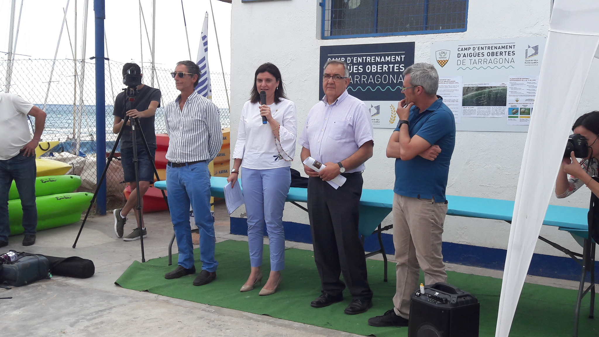 Club de Vela, Consellera d'Esports, Diputat de la Diputació de Tarragona i Vice President CN Tàrraco