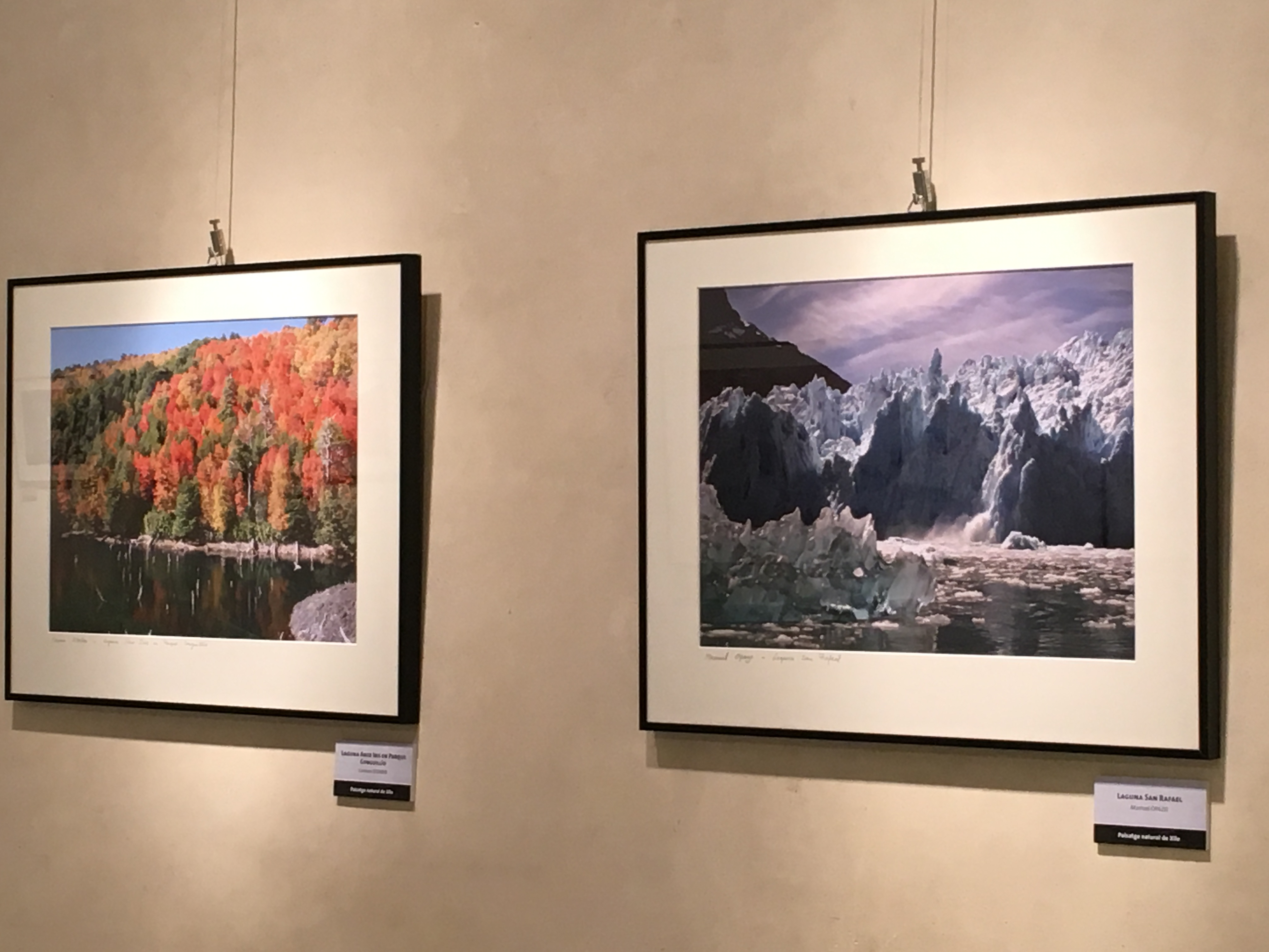 Exposició de paisatge natural de Xile