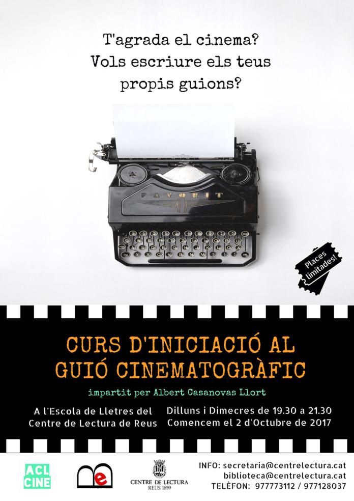 POSTER CURS DE GIUÓ CINEMATOGRÀFIC