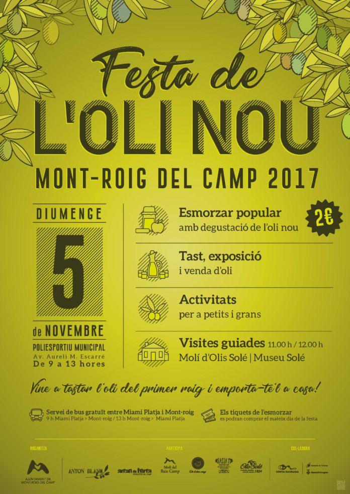La Festa de l'oli nou de Mont-roig del Camp 2017