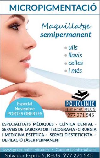 Micropigmentació paramèdica i oncològica, Policlínic Simonet Reus