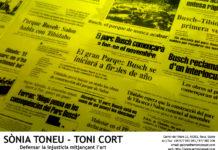 SÒNIA TONEU - TONI CORT: DEFENSEM LA INJUSTÍCIA MITJANÇANT L'ART