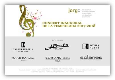 Concert inaugural de la Temporada 2017-2018 al Teatre Fortuny de Reus, amb el patrocini del Col·legi de Joiers