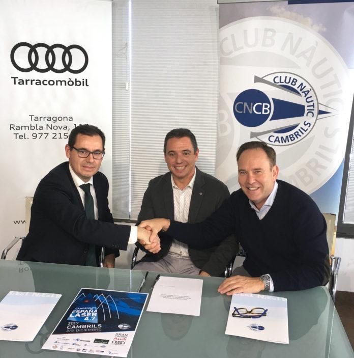 Audi Tarracomòbil i el Club Nàutic Cambrils signen un conven dei patrocini dels equips de regates