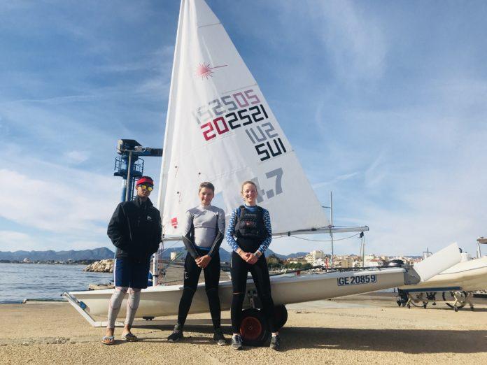 L'equip de regates de Ginebra i el del Club Nàutic Cambrils entrenen conjuntament abans del Campionat d'Espanya de Làser 4.7