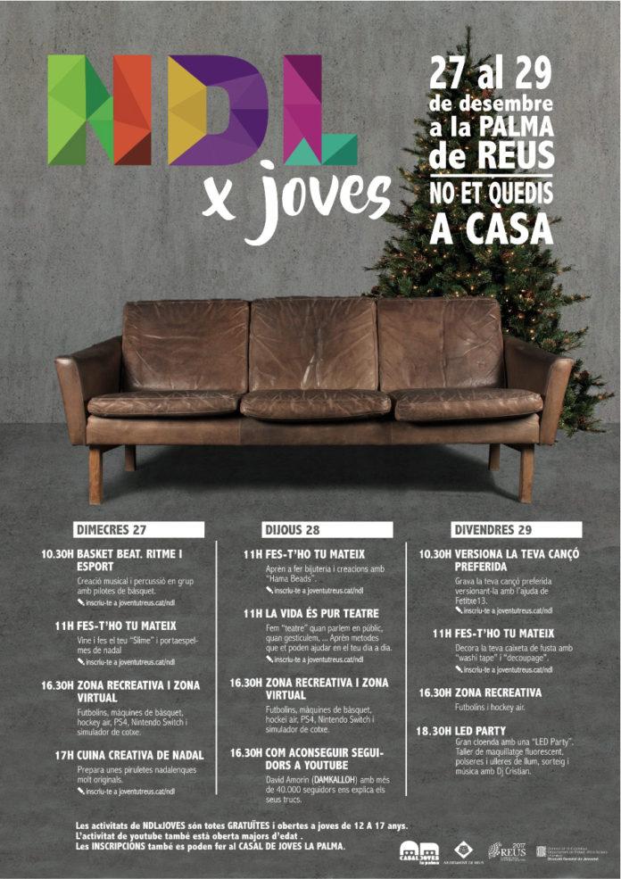 El Casal de Joves obre per Nadal amb el programa NDLxJoves