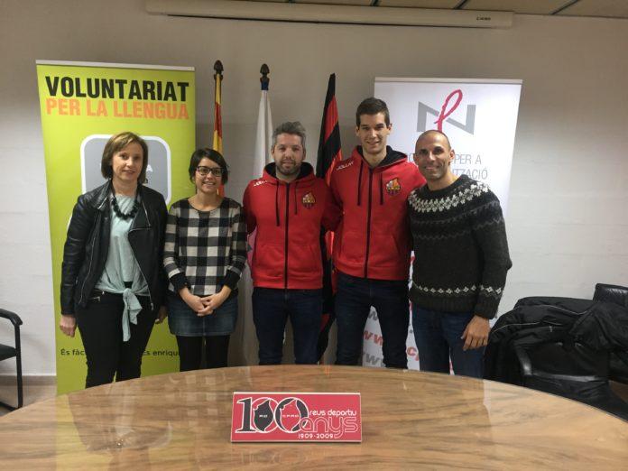 Els porters del Reus Deportiu d'hoquei participaran en el Voluntariat per la llengua