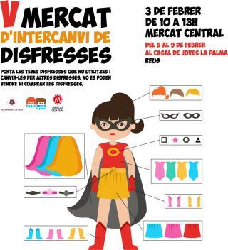 El Mercat d'intercanvi de disfresses arriba a la 5a edició i es trasllada al Mercat Central