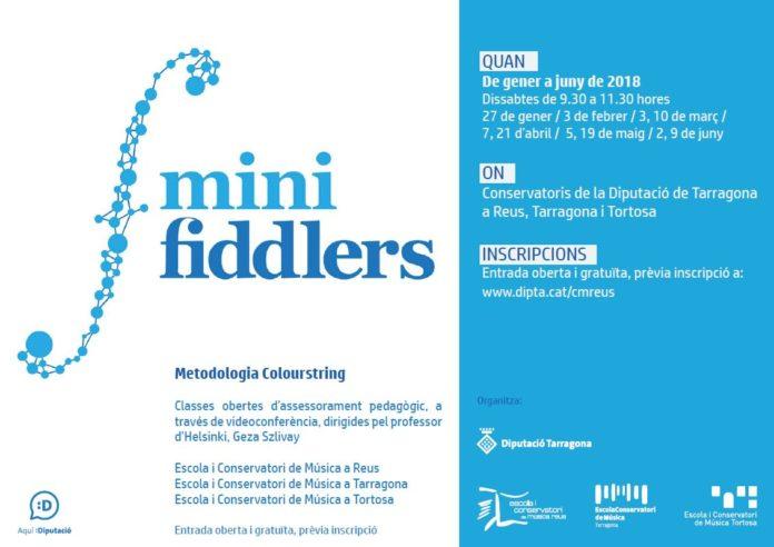 Els Conservatoris de Música de la Diputació implanten el programa pedagògic pioner Minifiddlers, nascut a Finlàndia