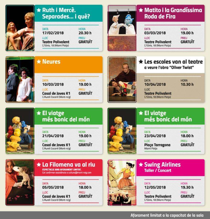 La regidoria de Cultura presenta una programació estable de teatre i música