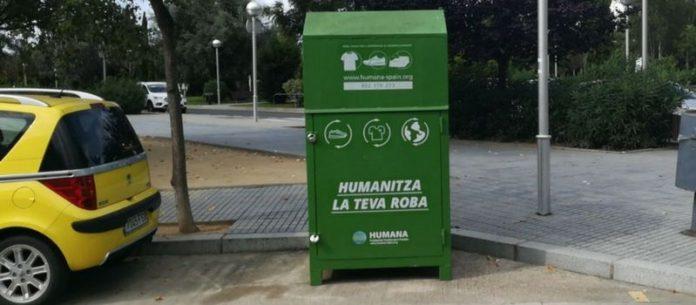 Humana recupera 55 tones de roba usada a Salou