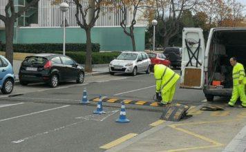 La Policia Local de Salou substitueix passos elevats de reducció de velocitat per millorar la seguretat i reduir el soroll