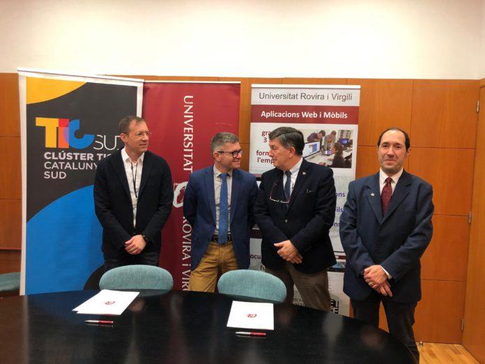 El Clúster TIC Catalunya Sud promourà el nou Grau en Tècniques de Desenvolupament d'Aplicacions Web i Mòbils de la URV