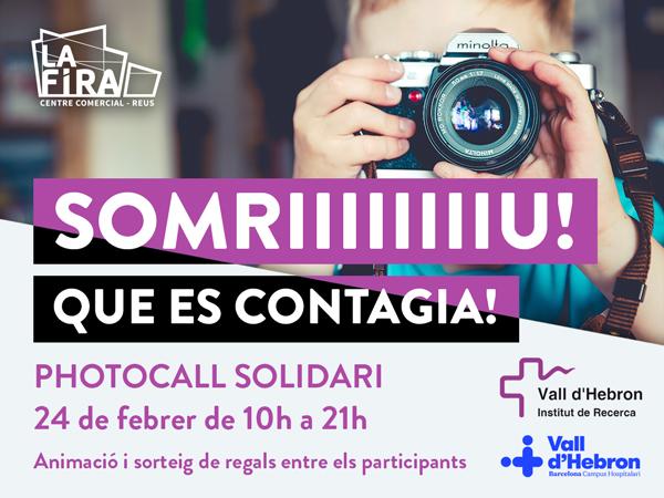 La Fira Centre Comercial acull un photocall solidari per la investigació en oncologia pediàtrica