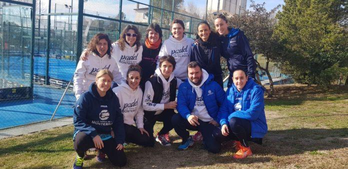 equip de pàdel femení del Monterols