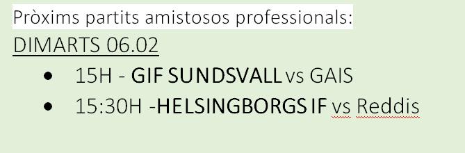 Amistosos nòrdics al CE Futbol Salou