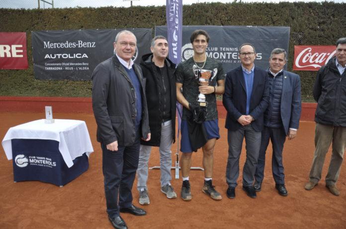 Gian Marco Moroni, campió del XIX Torneig Internacional de Tennis ITF Future Autolica Mercedes-Benz del Monterols