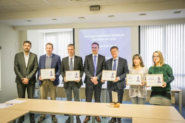 Activa Mutua premia a 5 empreses del Baix Camp per la prevenció dels seus riscos laborals