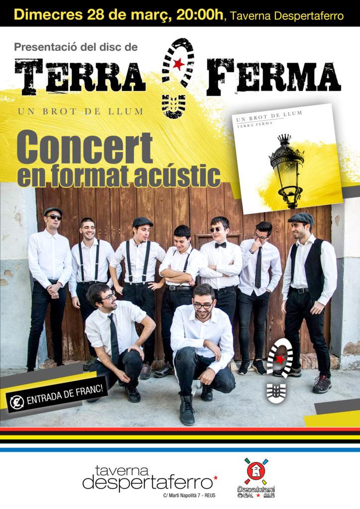 La banda d'ska-fusió Terra Ferma presenta al Casal Despertaferro el seu primer disc