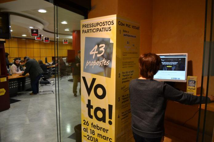 3.400 persones ja han votat en els Pressupostos participatius