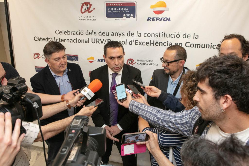 Repsol renova el conveni de col·laboració que manté amb la Càtedra Internacional URV/Repsol d'Excel·lència en Comunicació.