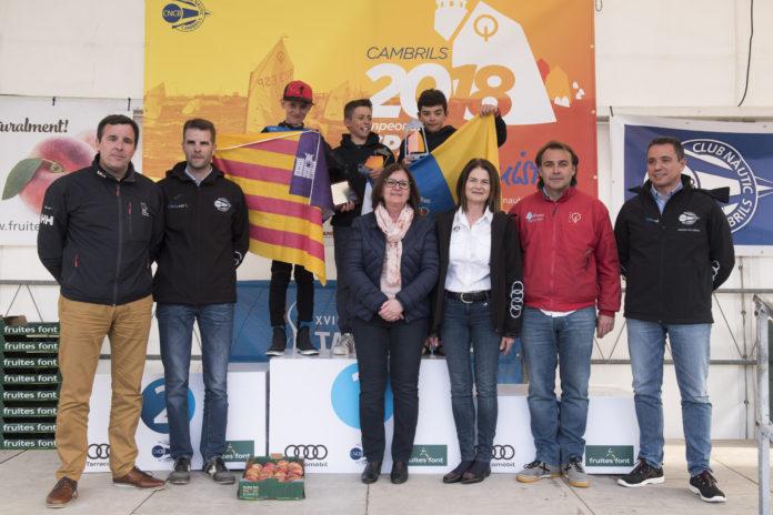 Javier Ojeda i Maria Perelló, guanyadors del Campionat d'Espanya d'Optimist del Club Nàutic Cambrils
