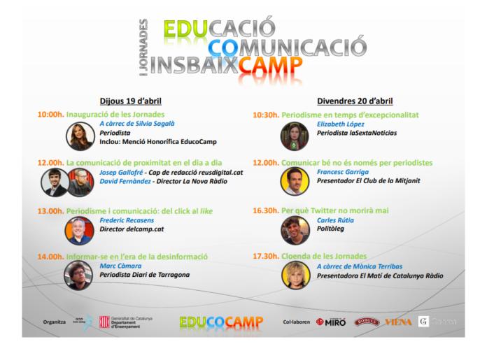L'Institut Baix Camp organitza les primeres Jornades Educocamp sobre educació i comunicació