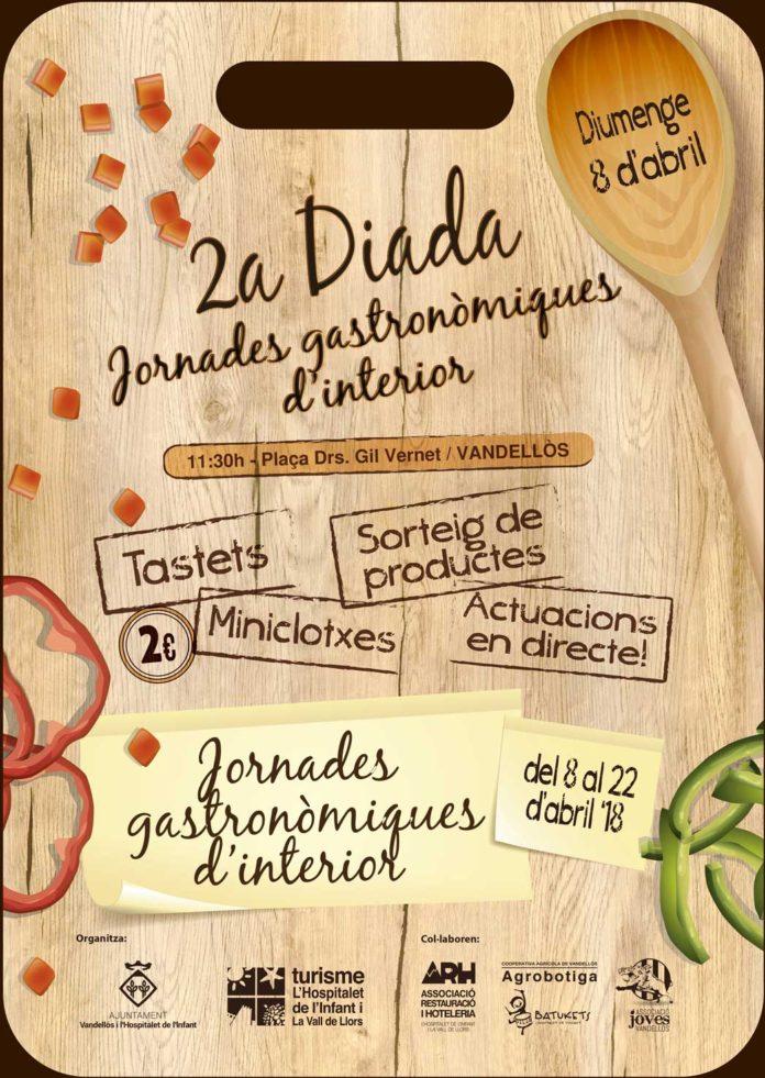 Diumenge, 8 d'abril, s'inauguraran les II Jornades gastronòmiques d'interior a Vandellòs