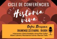 """Inici del cicle de conferències """"Història viva"""""""