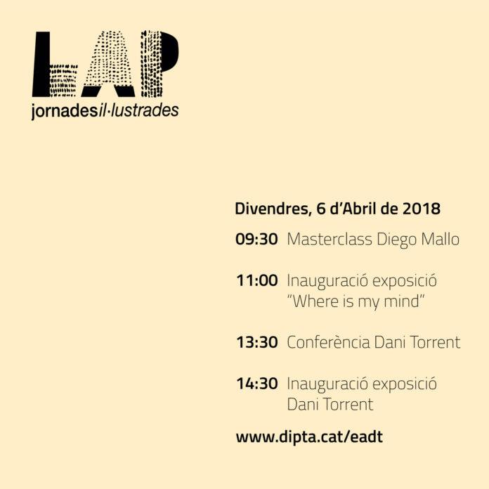 Tornen les Jornades il·lustrades LAP a l'Escola d'Art i Disseny de la Diputació a Tarragona, del 6 al 20 d'abril