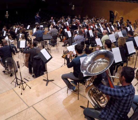 L'OBC enregistra la Marxa Olímpica i la Fanfàrria dels XVIII Jocs Mediterranis, creades per un professor del Conservatori de Música de la Diputació a Tarragona