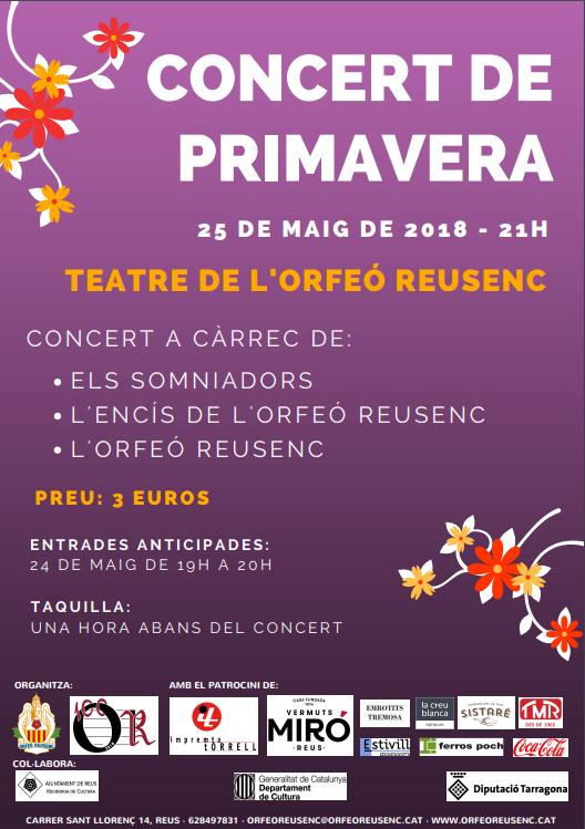 Concert de Primavera a l'Orfeó Reusenc