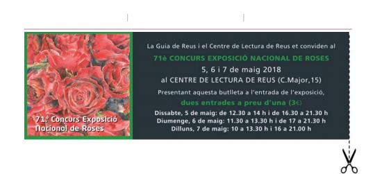 71è Concurs Nacional de Roses