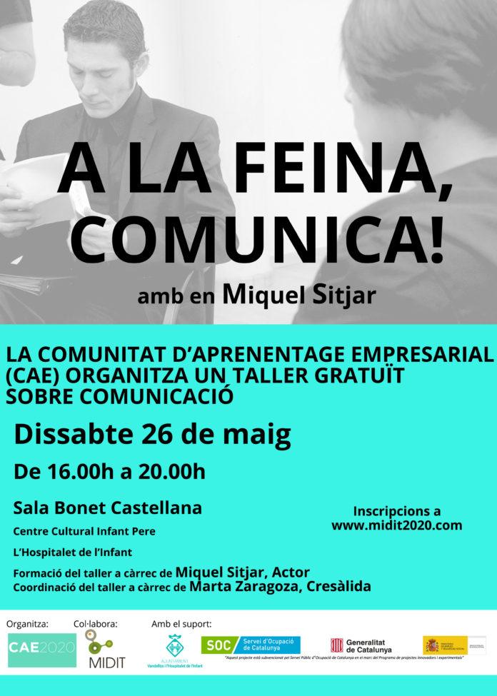 La Comunitat d'Aprenentatge Empresarial organitza un taller de comunicació a càrrec de l'actor Miquel Sitjar