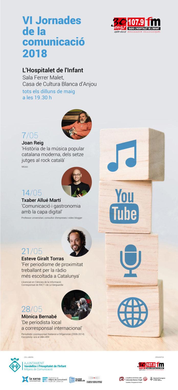 El músic Joan Reig inaugurarà les VI Jornades de la comunicació a l'Hospitalet de l'Infant el proper dilluns