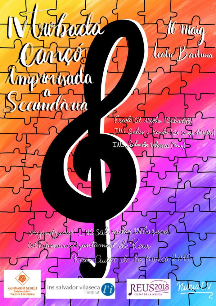 IV Trobada de Cançó Improvisada a Secundària, aquest dimecres al Teatre Bartrina