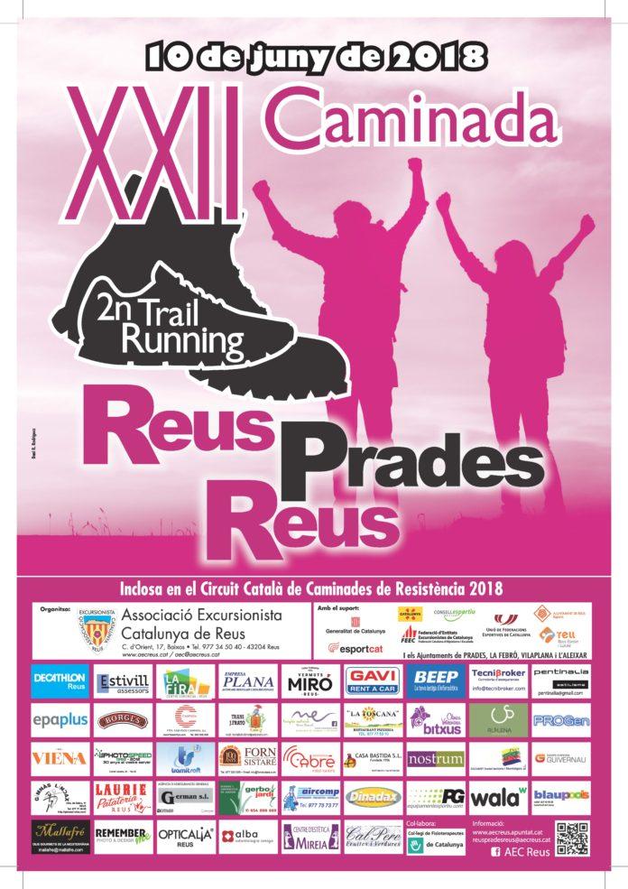 Cartell de la caminada Reus-Prades-Reus de 2018