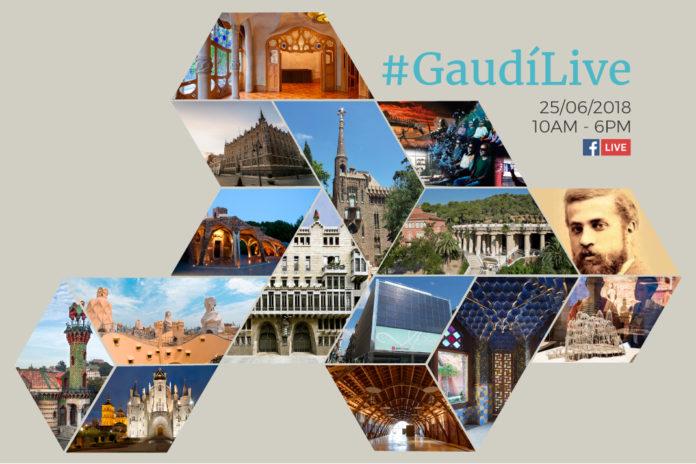 Gaudí celebra 166 anys en directe
