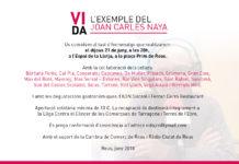 Dijous 21 de juny tast d'homenatge a la memòria del Joan Carles Naya
