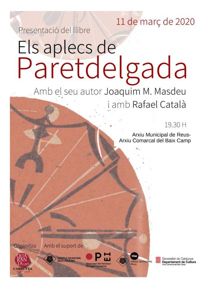 Presentació del llibre Els aplecs a Paretdelgada