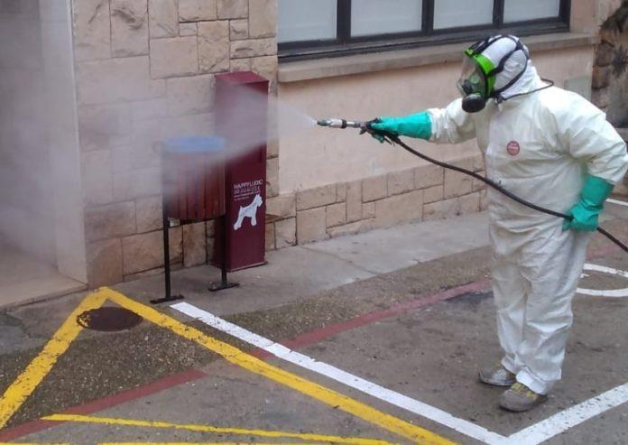 desinfecció d'espais públics