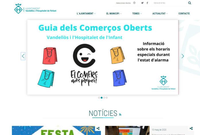 nova web Vandellòs i l'Hospitalet de l'Infant