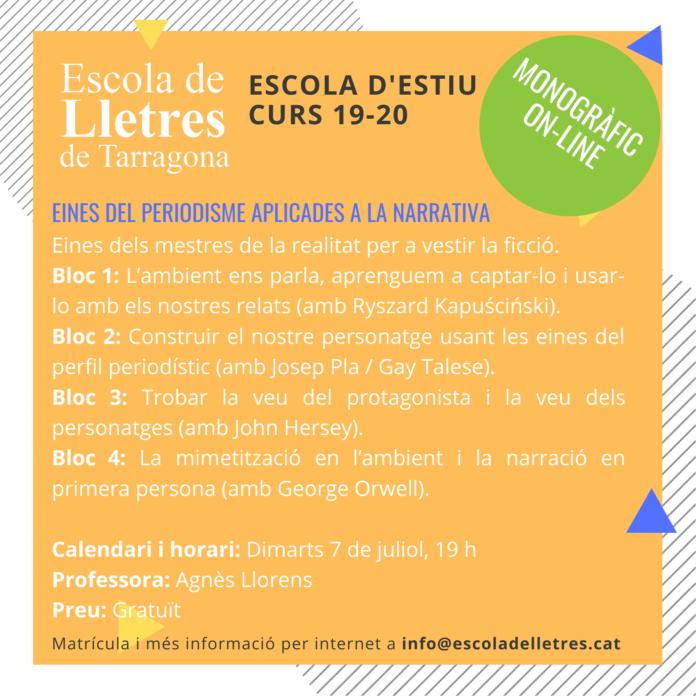 L'Escola de Lletres de Tarragona comença la setmana vinent la seva escola d'estiu