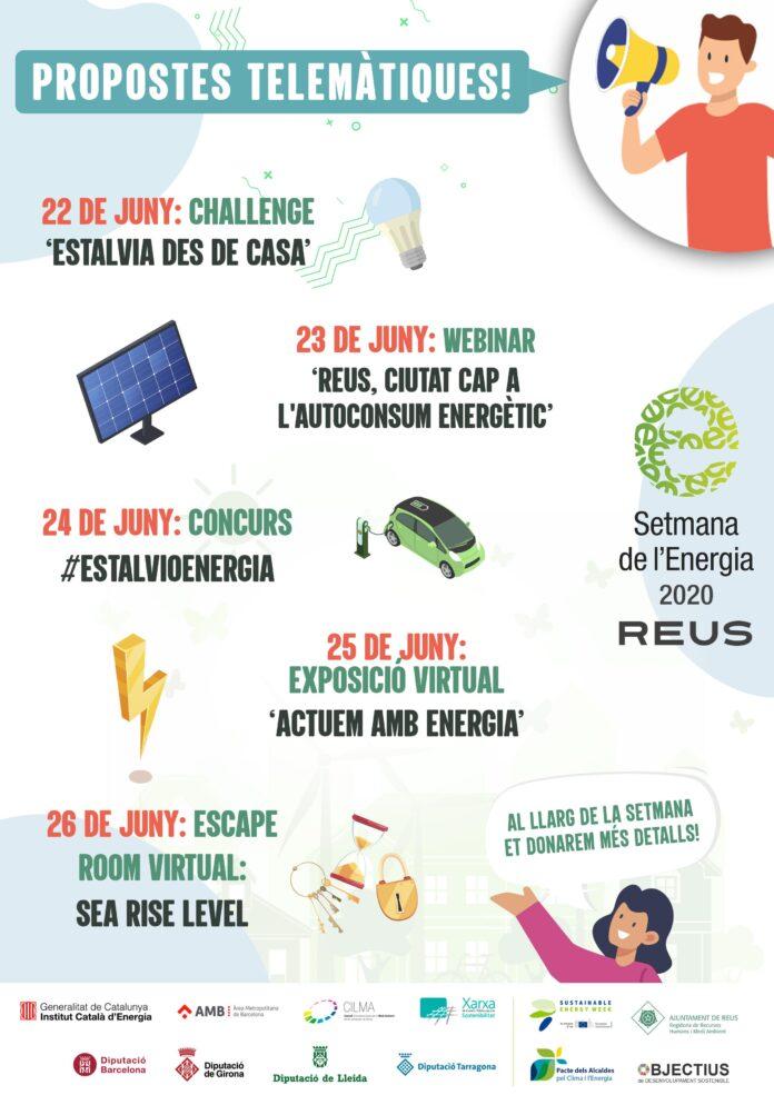 La Setmana de l'Energia 2020 arriba a Reus