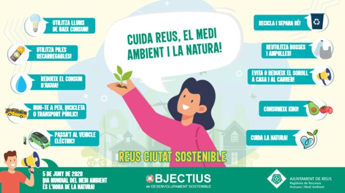 L'Ajuntament de Reus, amb el Dia Mundial del Medi Ambient