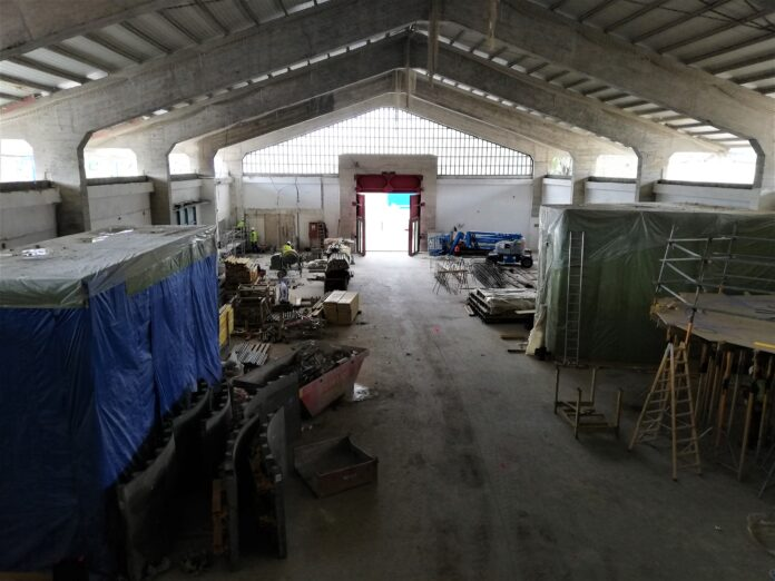 Les obres del Museu del Port de Tarragona superen la fase de desmuntatgede la coberta
