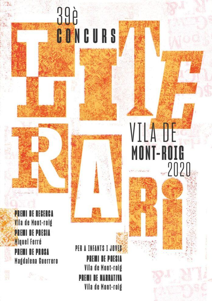 S'obre el termini per presentar els originals pel XXXIXè Concurs Literari Vila de Mont-roig