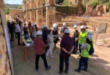 La consellera Vilallonga ha visitat la cartoixa d'Escaladei durant les obres de rehabilitació