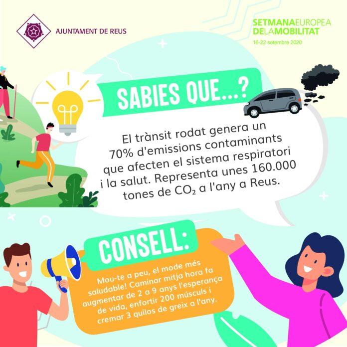 Reus s'adhereix a la Setmana de la Mobilitat Sostenible 2020