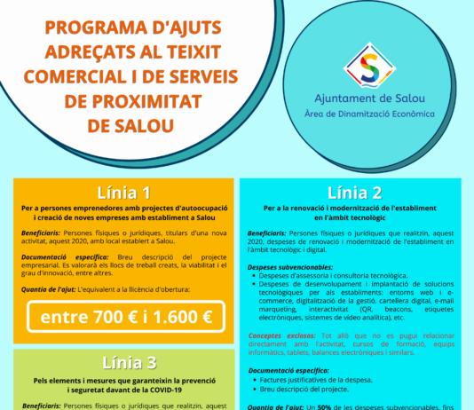 En marxa el programa d'ajuts adreçats al teixit comercial i de serveis de proximitat de Salou